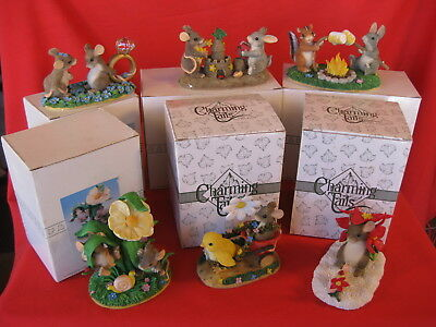 CHARMING TAILS FITZ AND FLOYD LOT OF 6 DIFFERENT FIGURINES (lot4)00