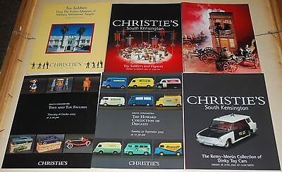 Lot 6 Christie's  Diecasts Toys and Figures Auction Catalogs