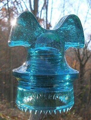 "MIGHTY Fine ""FANG"" Drip Pointed MICKEY MOUSE Glass POWER Distribution Insulator"