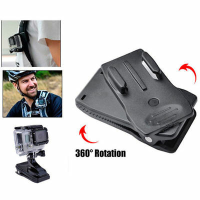 360° Rotary Quick Release Backpack Hat Clip Clamp Mount For GoPro Hero 5 4 3+ 2