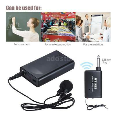 Durable Lavalier Lapel Collar Clip-on Wireless Microphone Voice Amplifier N7M7