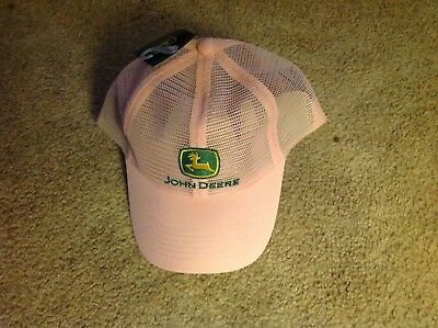 Authentic John Deere pink one size fits all mesh baseball hat