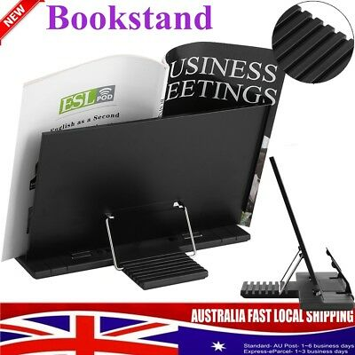 Adjustable Portable Book Document Steel Stand Gift Reading Desk Holder Bookstand