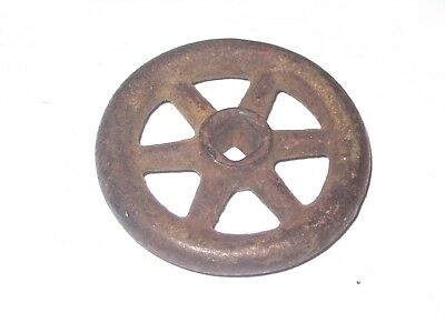 Early Cast Iron Water Key Wheel Style Great Early Design Hose Knob ??