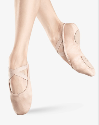 Free shipping BLOCH Adult ZENITH Stretch Canvas SplitSole Ballet Shoes size 4.5C