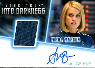 Star Trek Beyond COSTUME RELIC / AUTOGRAPH CARD of ALICE EVE Carol Marcus