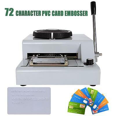 72 Character Symbol Embossing Stamping Machine Magnetic ID PVC Card Embosser