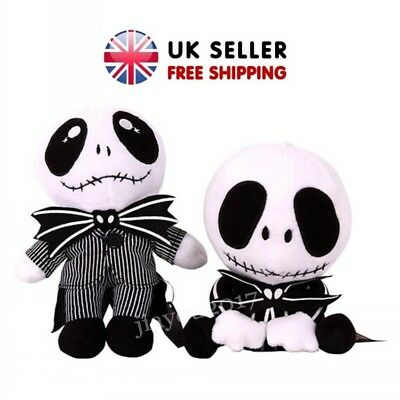 """Nightmare Before Christmas Jack Skellington Plush Soft Toy Doll Kids Gifts 8"""" 9"""""""