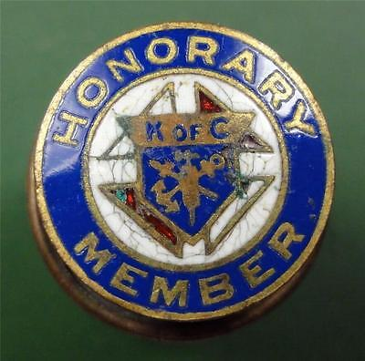 KNIGHTS OF COLUMBUS Lapel Pin HONORARY MEMBER maker:St Louis Button 13mm ME3127