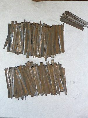 "3 pounds of  2 1/2"" VINTAGE SQUARE CUT STEEL NAILS  270 count Old NOS + 9-2 1/4"
