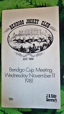 Bendigo Cup race book 1981- top horses Magistrate and Penny Edition ran quinella