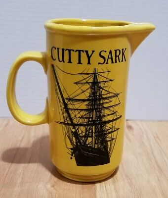 "Vintage Cutty Sark Scotch Whisky Ship Water Pitcher / Pub Jug 6 3/4"" Tall"