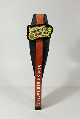 Figueroa Mountain Brewing Co Danish Red Lager Beer Tap Handle Craft