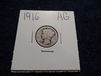 #67 About Good Mercury Silver Dime 1916