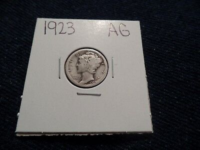 #73 About Good Mercury Silver Dime 1923