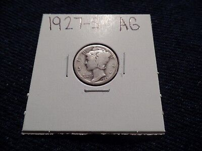 #77 About Good Mercury Silver Dime 1927 S