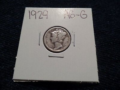 #79 About Good To Good Mercury Silver Dime 1929