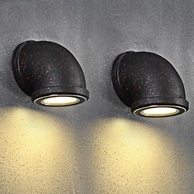 new product eda36 853ef VINTAGE INDUSTRIAL RUSTIC Water Pipe Metal LED Wall Lights Wall Sconce