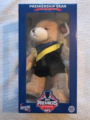 2017 Premiership Bear Limited Edition Numbered 419/1000 Richmond Tigers