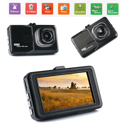 170° Wide Angle Full HD 1080P Car Vehicle Dashboard DVR Camera Video Recorder