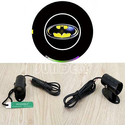Fast Post Motorcycle LED Laser Fog Projector Light Signal Lamp 3 d yellow bats