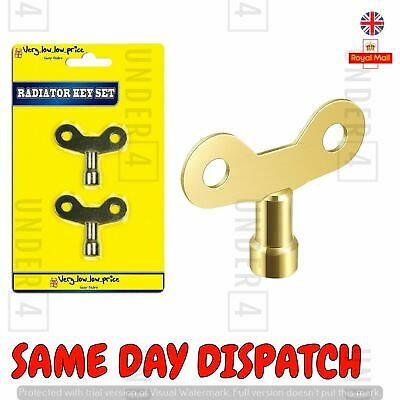 NEW 2pc Radiator Key Set Brass Radiator Bleed Keys Square Keys Plumbing Tool UK