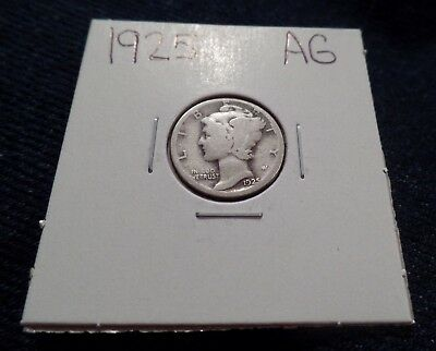#94 About Good Mercury Silver Dime 1925