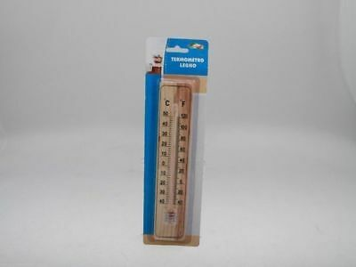 12 x Thermometer Wood 22 x 5cm Temperature Hot/Cold Wholesale Lot