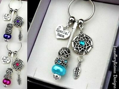 Beautiful SPECIAL NANA Dream Catcher Keyring Key Ring You Choose Colour