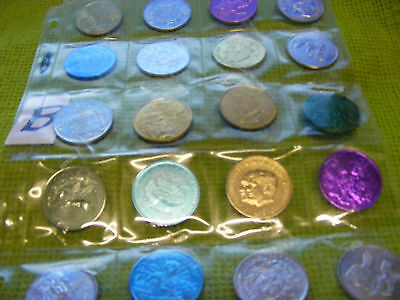 Lot of 20 Genuine New Orleans Mardi Gras Doubloons,years 1969, 70s,80s,etc.(B)