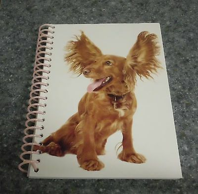 Brand New Red Cocker Spaniel Themed Notebook For Cocker Spaniel Rescue Charity