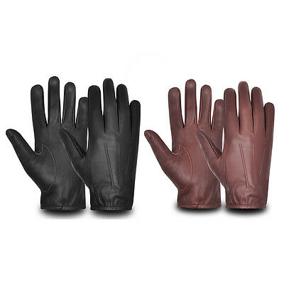 Mens Driving Gloves REAL Soft Leather Lined Top Quality Retro Vintage Design