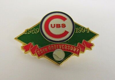 Chicago Cubs * 1969-1994 * 25th Anniversary * Lapel Pin - PinBack - Brooch