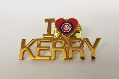 Quality * I Love Kerry * Chicago Cubs * Lapel Pin - PinBack - Brooch