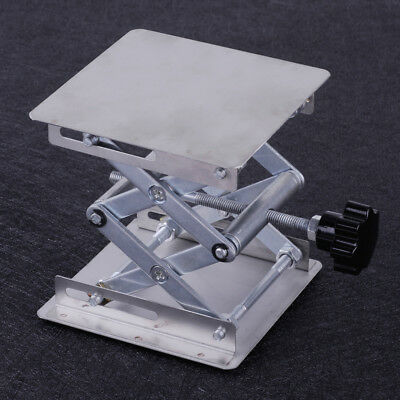 "4"" x 4"" Lab Lifting Platform Stand Scissor Rack Jack Stainless Steel Woodworking"