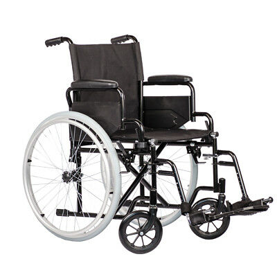 Self Propelled Black Wheelchair with Flip Back Arm Rests by Viva Medi