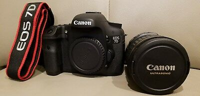 USED CANON EOS 7D 18mpDigital Camera with CanonEF 28-135 mm IS USM LENSES
