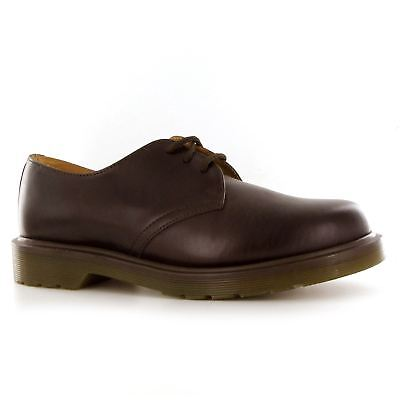 Dr.Martens PW Dark Brown Leather Womens - Mens Shoes - 11839202