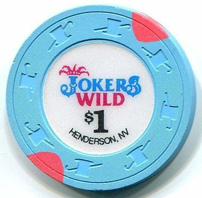 $1 Jokers Wild Henderson, Nv Casino Chip ***almost--Uncirculated***