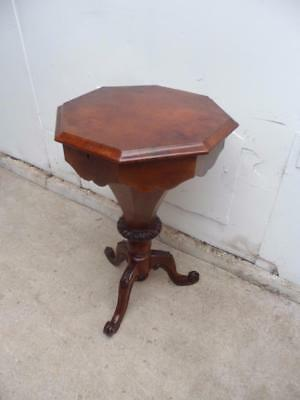 A Quality Mahogany Original Victorian Sewing Table c1890s