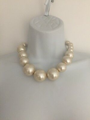 Chunky Short Large Pearl Bead Necklace 60's*80's*scene*indie*statement*statement