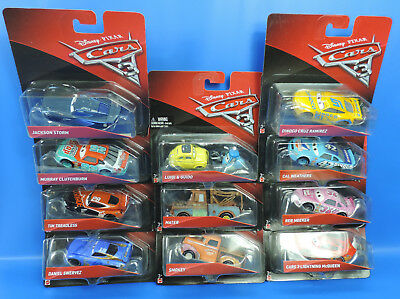 Mattel Disney Cars 3  / Checklane DYW77 Die Cast Singels Autos / Auswahl an Cars