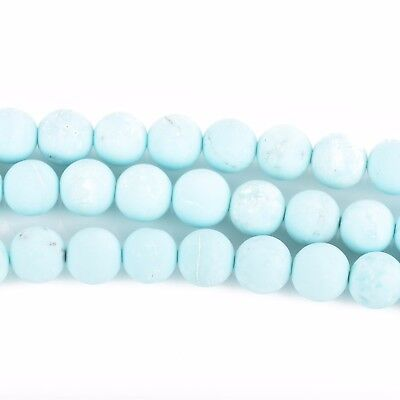 6mm BABY BLUE Frosted AGATE Round Beads, Matte Gemstone Beads, strand, gag0351