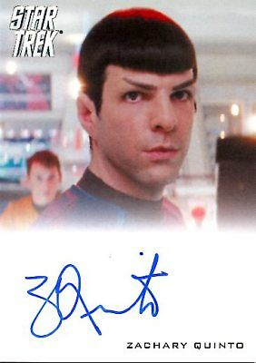 Star Trek Beyond  FULL BLEED AUTOGRAPH CARD of ZACHARY QUINTO Spock