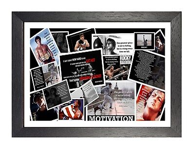 Rocky Balboa Mix Poster Motivational Inspirational Sport Photo Sylvester Stallon