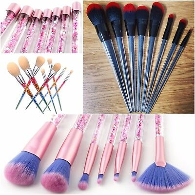 Make Up Pro Glitter Quicksand Brushes Foundation Blusher Face Powder Brush Set