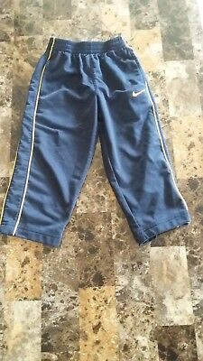 Boys Nike Athletic Pants Size 2T Navy Blue and Yellow Elastic Waist and Pockets
