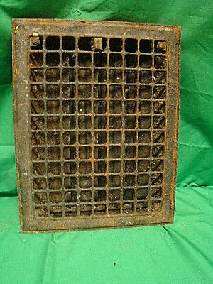 Antique Iron Heating Vent Grate Square Design 14 X 11  Hv