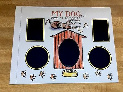 """New """"Paws To Remember"""" Dog 5 Picture Print 8-1/2x11"""" Glossy PICTURE- Add Frame"""