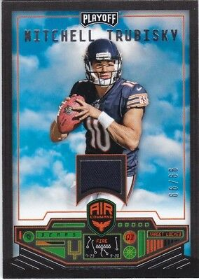 Mitchel Trubisky 2017 Panini Playoff Air Command Jersey Rc #99/99 Chicago Bears